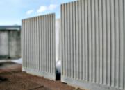 Murs cannelés