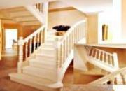 Escalier 2/4 tournant bois