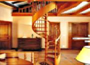 Escalier hélicoïdal circulaire bois