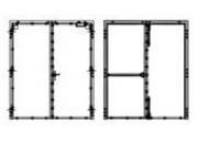 Bloc-porte 2 vantaux 2 V, 2VGH