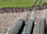 Réseau de distribution d'eau enterré