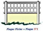 Plaques ajourées en béton