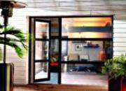 Porte-fenêtre bicolore