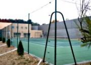 Clôture d'un court de tennis