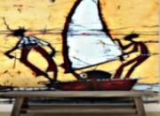 Papier peint batik boat