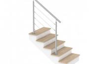 Garde-corps pour escalier d'intérieur avec câbles inox
