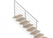 Garde-corps pour escalier d'intérieur avec barres inox