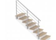 Garde-corps escalier extérieur inox à barres