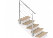 Garde-corps escalier extérieur câbles inox