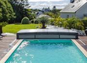 Abri piscine bas télescopique
