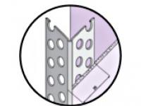 Protège-angle perforé galvanisé pour cloison seche