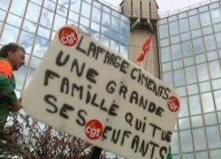 Lafarge: grève de la faim contre un projet de fermeture