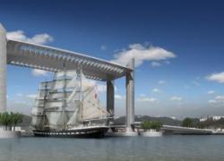 Un pont levant sur la Garonne inauguré à Bordeaux