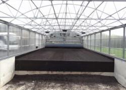 La station d'épuration sèche ses boues par voie solaire