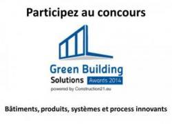 Appel à concours pour les Green Building Solutions Awards