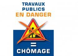 Le secteur des travaux publics manifeste en Alsace et en Lorraine