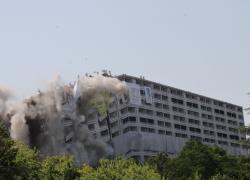 Lyon : démolition du dernier pan de la Barre des Mille