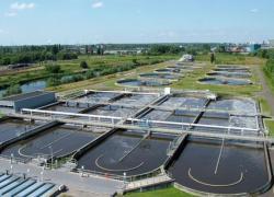 Une station d'épuration qui produit du gaz de ville