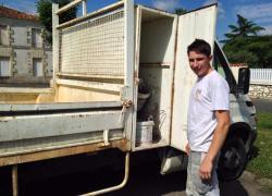 Ma vie d'apprenti : Alix sur un chantier... de bac à douche