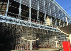 L'un des chantiers de la gare de Bordeaux suspendu par la Direccte