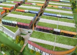 Des panneaux bois XXL sur du béton structurel pour Paris Asia