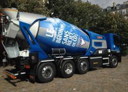 Un nouveau camion toupie zéro CO2 pour livrer le béton