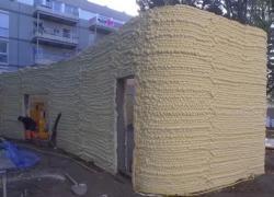 Un logement social construit par un robot-imprimante 3D à Nantes