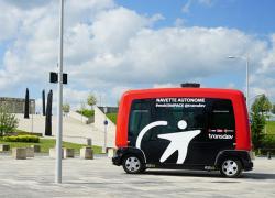 Première expérimentation d'une navette autonome près de Lyon