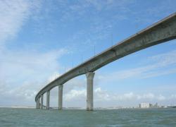 Le câble rompu au pont de l'île de Ré est réparé