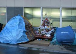 Près de 200 personnes rassemblées à Paris pour défendre les sans-abris