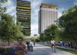 420 arbres, 4000 arbustes et 7500 plantes sur une tour de 20 étages à Milan