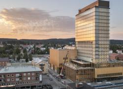 Un complexe culturel en bois boréal local culmine à 76 mètres en Suède