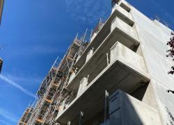 La construction de logements en léger déclin par rapport à l'avant-crise