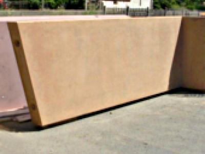 Murs à  parement colore