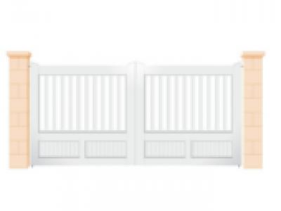 Portails de jardin en PVC