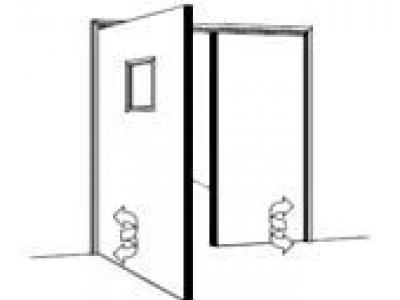 Bloc porte battant double action portes sp ciales sas - Porte metallique double battant ...