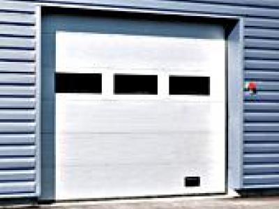 Crawford 542 aluminium portes de garage sectionnelles 25765p1 - Porte sectionnelle aluminium ...
