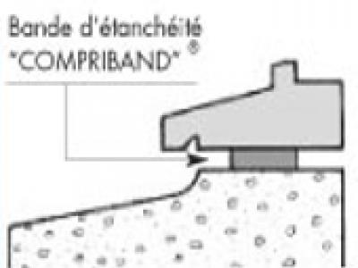 Bandes d etanchéité de type acrylband compriband