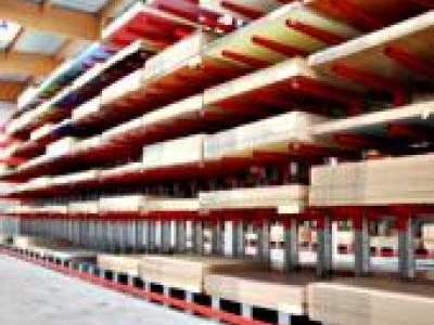 Stockage panneaux sur cantilever