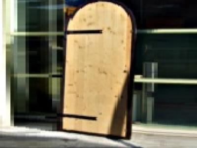 Porte cintree en bois ou alu
