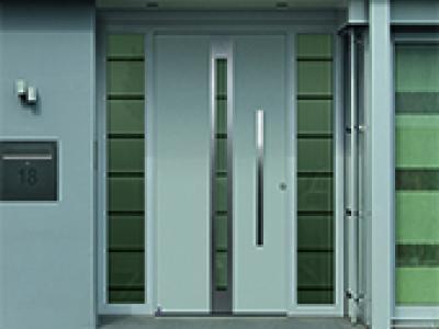 Portes d'entrée en aluminium ThermoSafe
