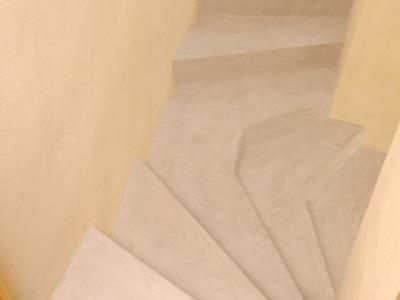 Micro-béton Rouviere Collection pour escaliers
