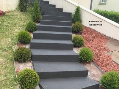 Micro-béton pour escalier extérieur Escaliers Eléments de ...