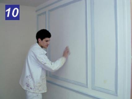 Finition : Les travaux préparatoires sur un mur