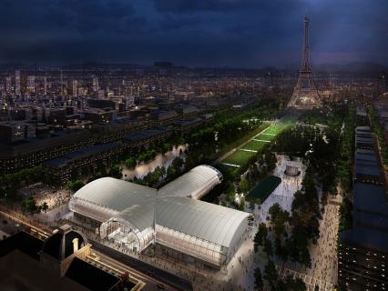 Grand Palais Éphémère : un bâtiment démontable en bois pour accueillir les évènements