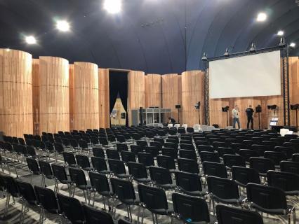 L'Auditorium éphémère en bois du 10e Forum Bois Construction cherche preneur !