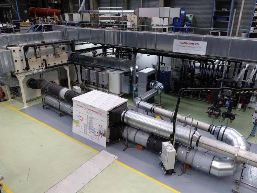 Une plateforme d'essais teste tout type de centrales de traitement d'air