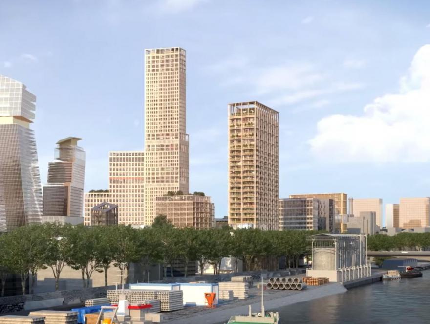 Paris: un projet de tour de 100 m en bord de Seine contrarié