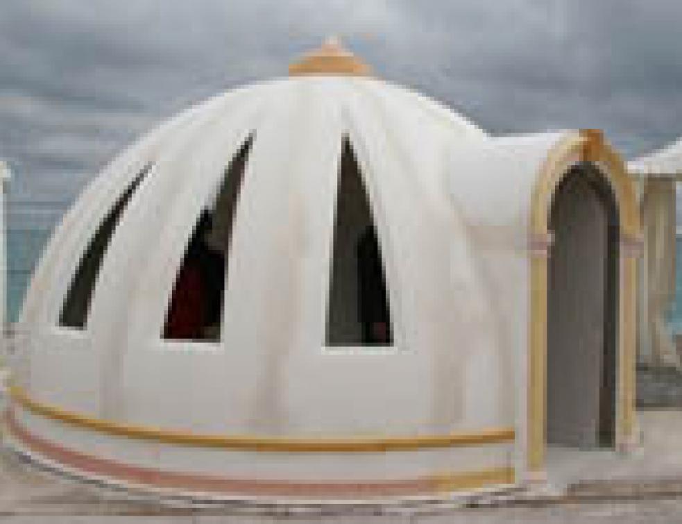 Challenge des métiers du plâtre : un igloo en staff primé