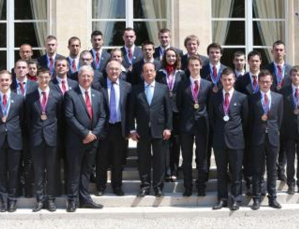 L'équipe de France des métiers reçue à l'Elysée